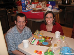 Steve and Betsy gingerbread