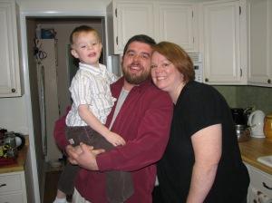 Amy, Alan, and Josh Christmas Eve