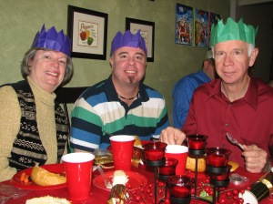 Scott, Mom and Dad with crowns