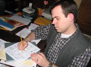 Steve doing quiz